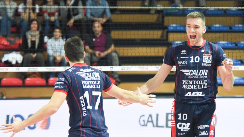 Volley: A2 Maschile, Bergamo e Spoleto hanno il match ball interno per arrivare in finale
