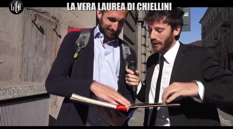 Chiellini, dalle Iene la laurea in Fallologia