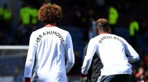Burnley, tutto il Manchester United con le maglie di Ibrahimovic e Rojo