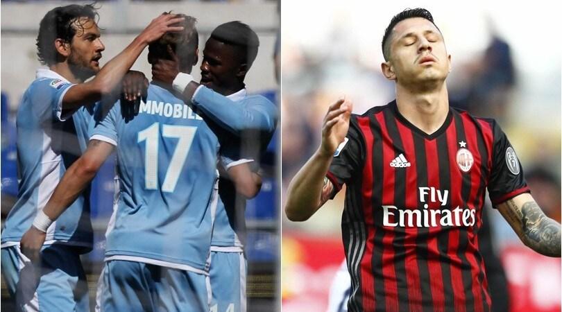 Serie A: Milan ko a San Siro con l'Empoli, goleada Lazio sul Palermo
