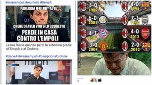 L'Empoli espugna San Siro. Milan, quante ironie sul web!