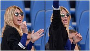 Lazio, come esulta lady Inzaghi dopo i 6 gol al Palermo
