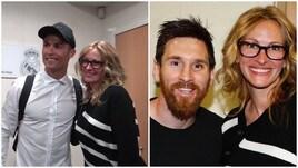 Julia Roberts ospite del Real Madrid ma fa la foto con Messi