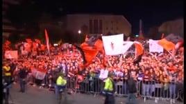 Foggia, i tifosi in festa per la Serie B