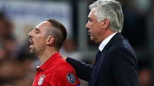 Ancelotti sprona Ribery: «Lo tolgo perché gioca male»