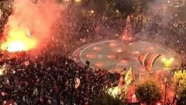 Foggia in B: festa da brividi, la piazza esplode di gioia