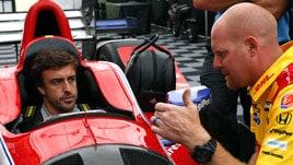 IndyCar, primo test in pista per Alonso: «Macchina più difficile»
