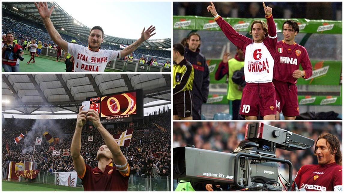 Totti leggenda anche nel derby: una storia lunga 23 anni