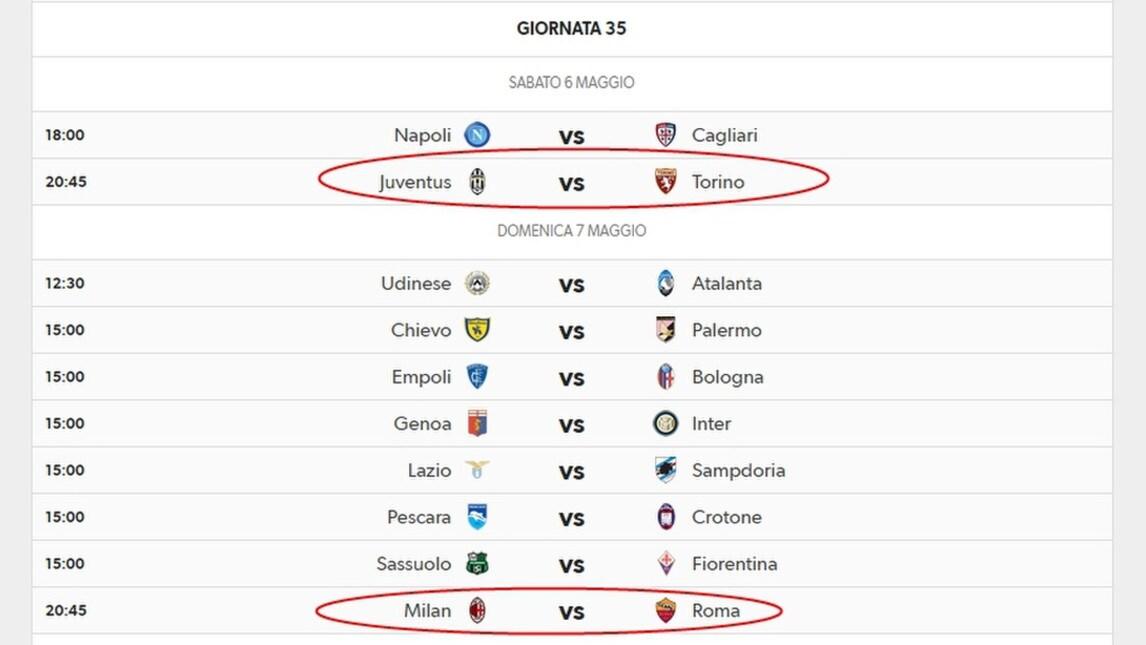 Juve Calendario Campionato.Serie A Il Calendario Di Roma E Juve Fino Alla Fine Del