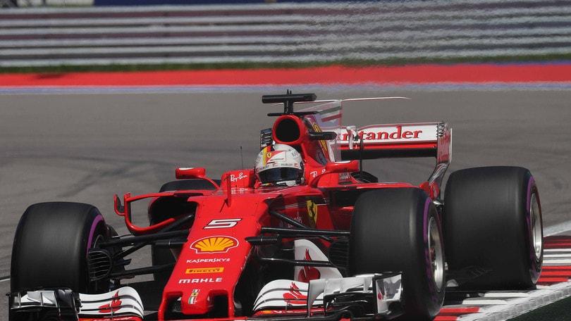 Gp Russia, prima fila tutta Ferrari: Vettel in pole