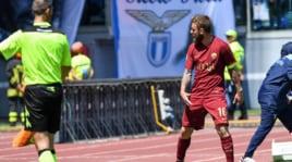 De Rossi, gestaccio verso la panchina della Lazio dopo il gol