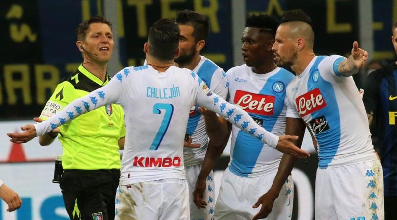 Moviola Inter-Napoli:D'Ambrosio rischia. Ghoulam, non è rigore