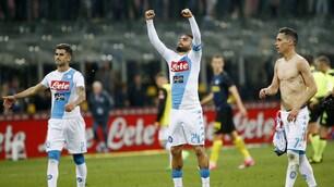 Inter-Napoli, top&flop:Mertens è immarcabile.Insigne, un altro show