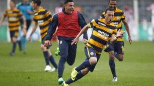 Serie B, Verona-Vicenza 3-2: Romulo-gol, Pecchia vince il derby