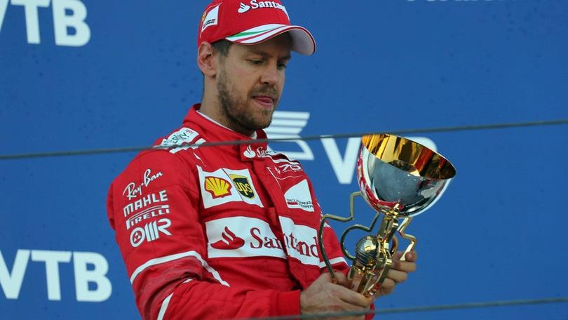 F1: Vettel 2° in Russia, ma in quota è sorpasso su Hamilton