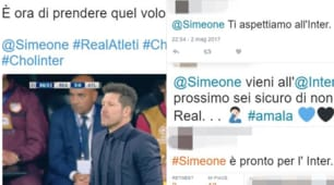 Simeone battuto, c'è chi lo invoca e chi ironizza: «Pronto per l'Inter»
