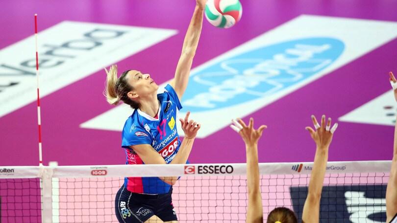 Volley: A1 Femminile, Novara pareggia i conti