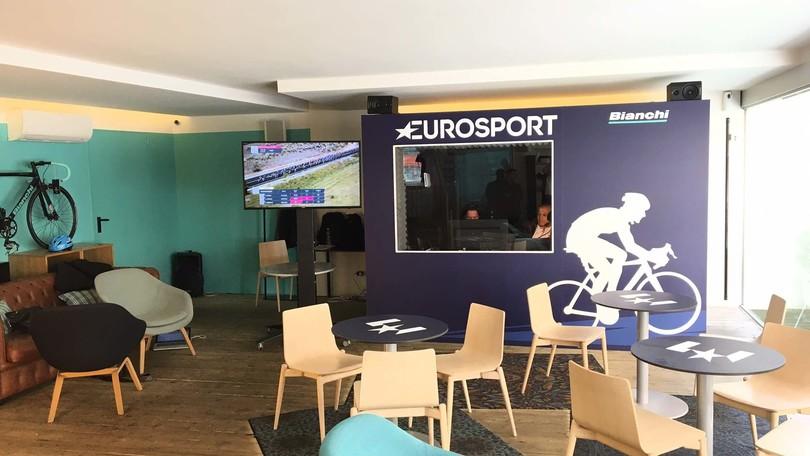 Al Bianchi Cafè la casa di Eurosport