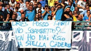 I tifosi del Napoli fanno gli auguri a Mertens
