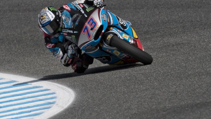 Moto2, Jerez: Marquez 1°, Morbidelli out ma Bagnaia va sul podio