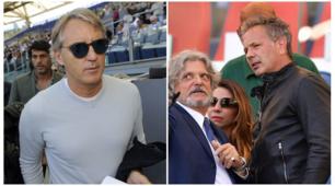 Mihajlovic e Mancini all'Olimpico per vedere Lazio-Sampdoria