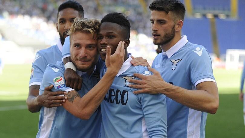Serie A: Lazio-Sampdoria 7-3, Genoa-Inter 1-0, il Palermo è in Serie B
