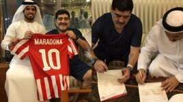 Maradona torna in panchina: allenerà l'Al-Fujairah