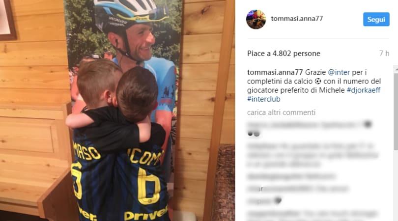 Inter, il regalo ai figli di Michele Scarponi: il post commovente