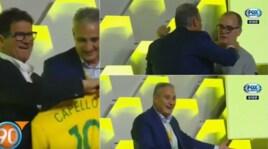 Brasile, foto con la maglia verdeoro: Capello c'è, Bielsa scappa...