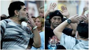 Maradona e Ronaldinho fanno impazzire il Bahrain