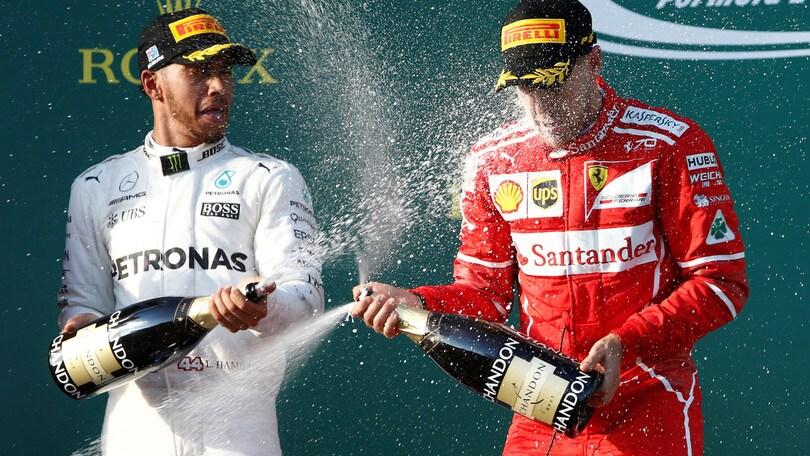 F1, Gp Spagna: Hamilton-Vettel, duello alla pari