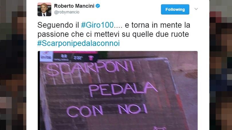 Mancini, messaggio a Scarponi: «Guardo il Giro d'Italia e penso a te»