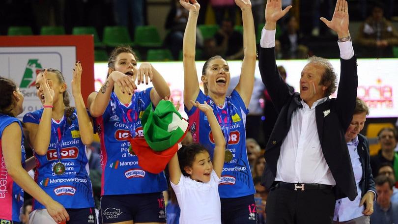 Volley: A1 Femminile, Novara in Paradiso, festeggia il primo scudetto