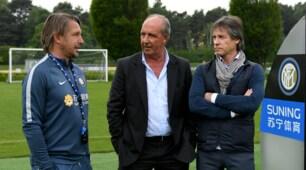 Inter, ad Appiano arriva l'Italia: la visita di Ventura e Lele Oriali