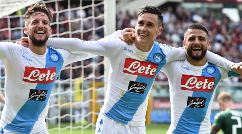 Serie A, per i quotisti ancora al top l'attacco del Napoli