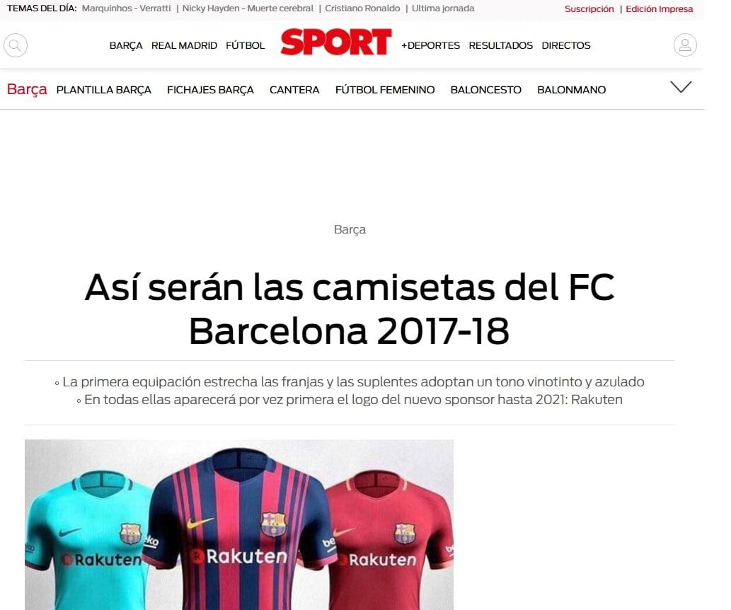 La maglia del Barcellona come quella della Roma
