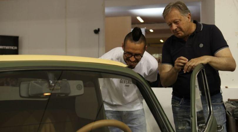 """Napoli Motor Show, Hamsik dà il """"calcio d'inizio"""""""