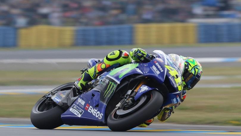 MotoGp, Le Mans: Rossi c'è, successo a 2,50