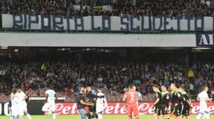 Napoli, tifosi a De Laurentiis: «Riporta lo scudetto in questa città»