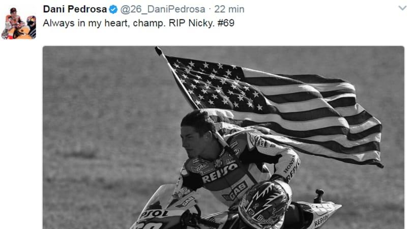 Nicky Hayden, il cordoglio del mondo dello sport