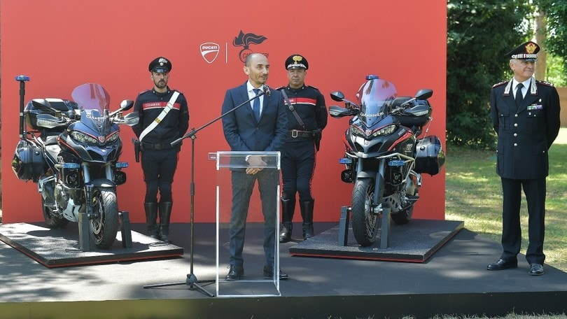 Ducati, la Multistrada si arruola coi Carabinieri