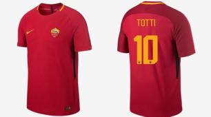 Roma, sul sito Nike la nuova maglia: c'è la 10 di Totti