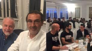 De Laurentiis, Sarri e tutto il Napoli insieme alla cena di fine anno