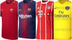 Dalla Premier alla Liga, dalla Ligue 1 alla Serie A: ecco tutte le nuove maglie dei top club europei