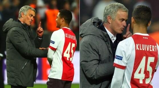 Mourinho ferma Kluivert jr in campo: «Vieni al Manchester United»