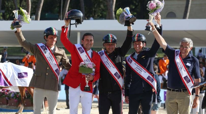 Coppa delle Nazioni, l'Italia trionfa a Piazza di Siena dopo 32 anni di digiuno