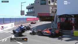 GP Montecarlo, clamoroso Wehrlein: la fotosequenza dell'incidente