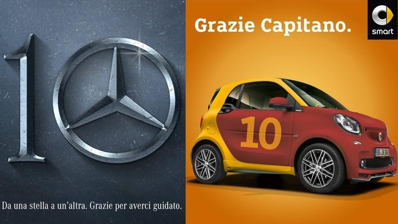 Anche Mercedes Italia ringrazia Totti