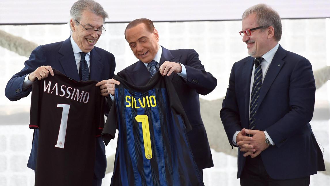Delle Risate Scambio Maglie Lo Berlusconiche Moratti Pkxouzi E Per XZwOTPkiu