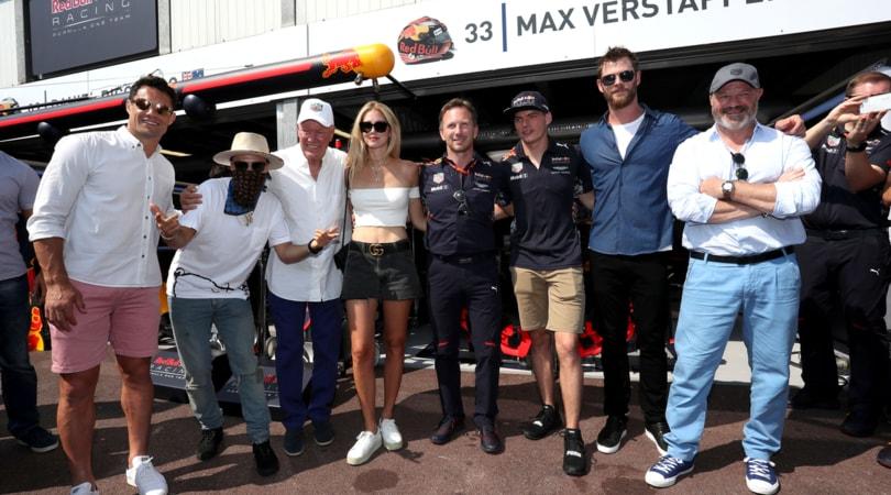 TAG Heuer al 75esimo Monaco Grand Prix con Chris Hemsworth e Daniel Ricciardo